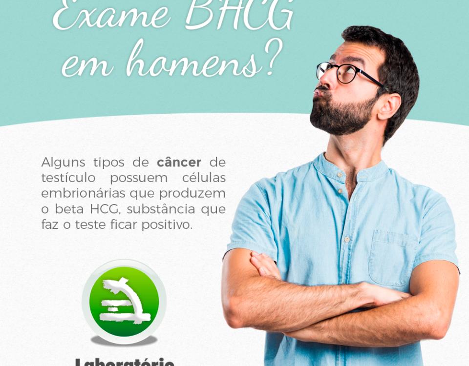 Exame BHCG em homens?