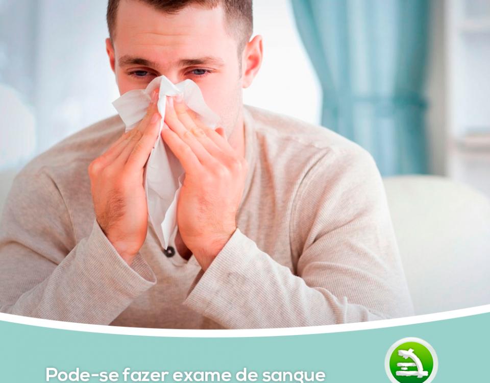 Pode-se fazer exame de sangue com gripe, resfriado ou febre?